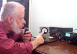 Robert doing a test transmission which was successfull and which was made at 12:12GMT Thursday 26 October.