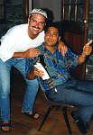 John Gasbarre (Islandman) and Derek Richards (Radio St. Helena).