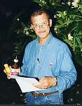 Tony Leo (Radio St Helena) reading an email.