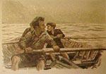 Rowing men