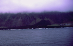The crater from sea